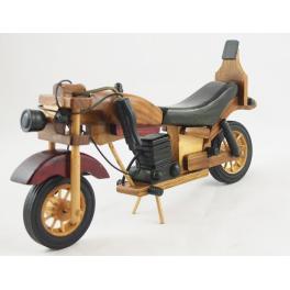 MOTOCYKL DREWNIANY S111259 29 CM