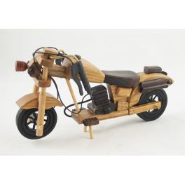 MOTOCYKL DREWNIANY S111255 22CM