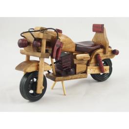 MOTOCYKL DREWNIANY S111254 16 CM