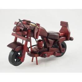 MOTOCYKL DREWNIANY  S111256 16 CM